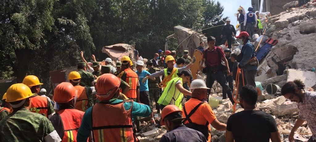 Sismo deja 108 muertos y 44 puntos de derrumbe en la CDMX
