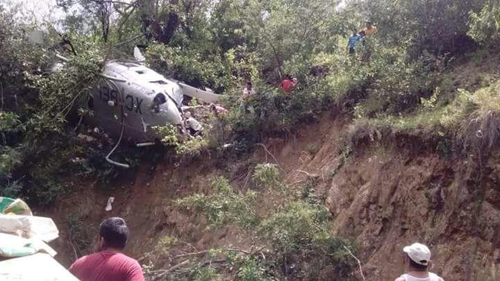 Desplome de helicóptero de PGR deja un muerto
