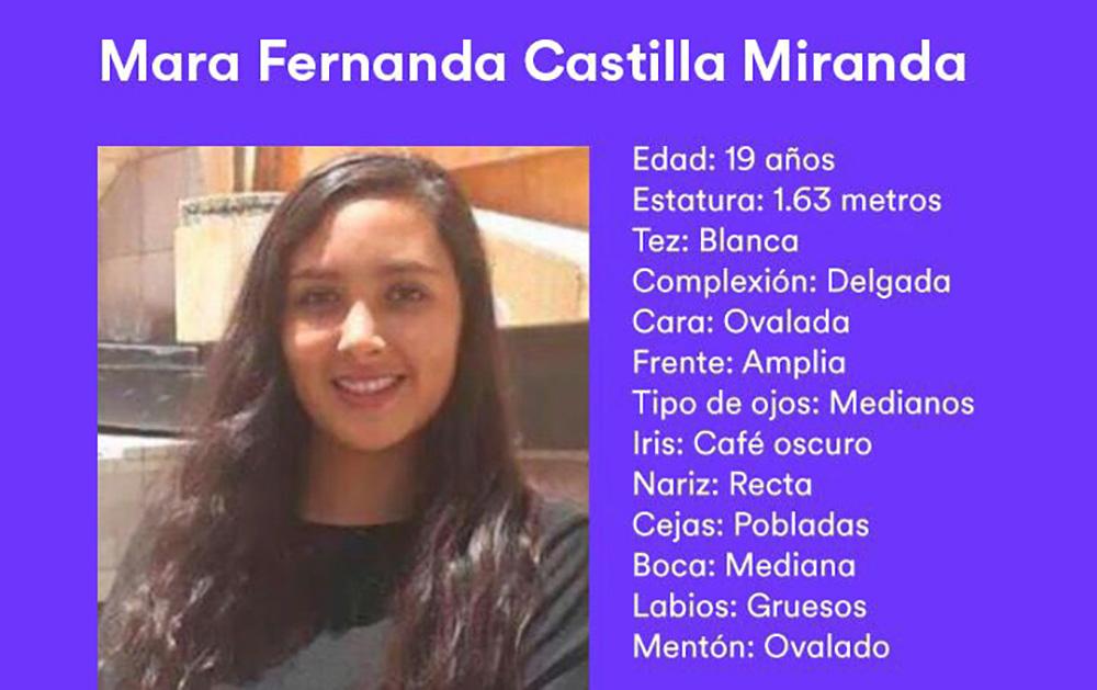 Mara Fernanda sigue sin aparecer, lleva 5 días perdida