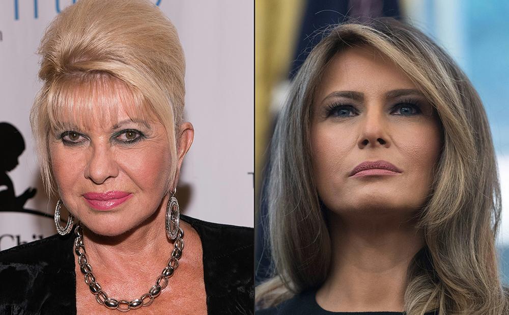 Melania Trump se enoja con Ivana Trump, quien dijo ser la Primera Dama