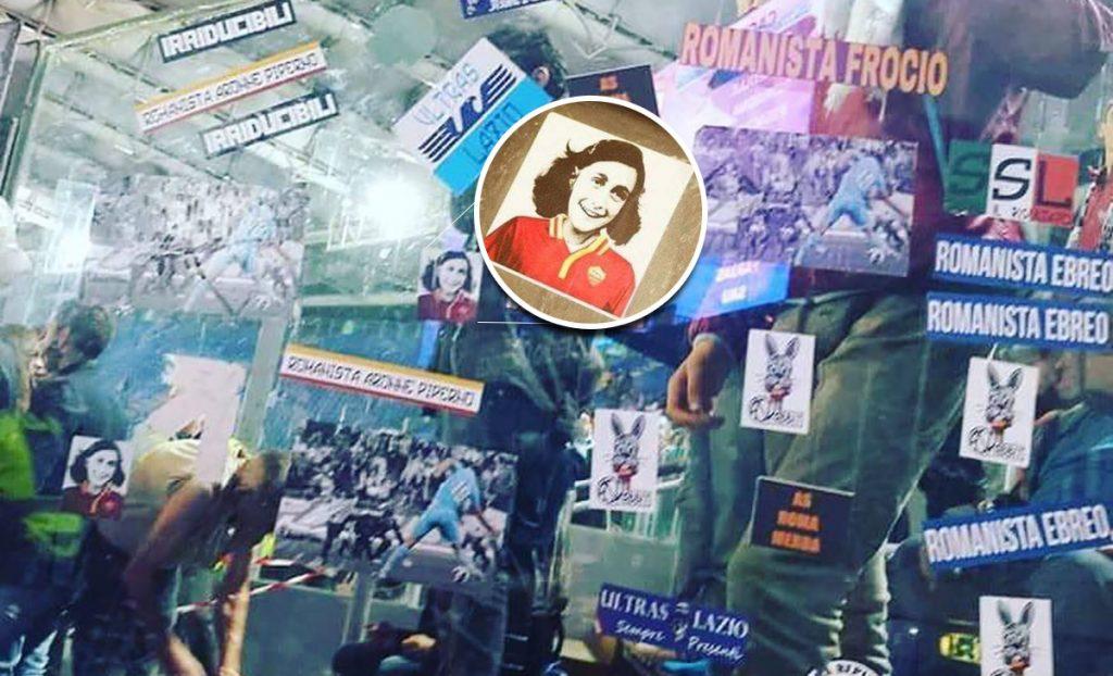 a Federación Italiana de Fútbol condenó a aficionados de la Lazio que utilizaron imágenes de Anna Frank para insultar a adversarios de la Roma