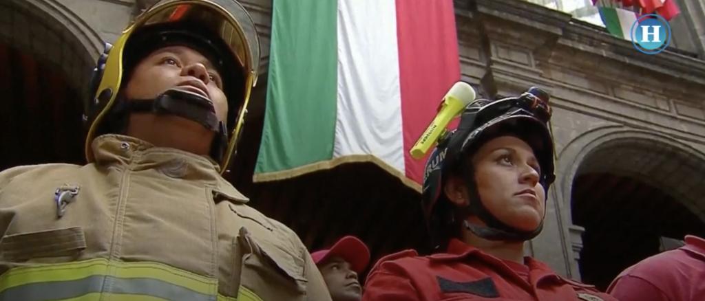 Sismo CDMX: Rinden homenaje a cuerpos de rescate