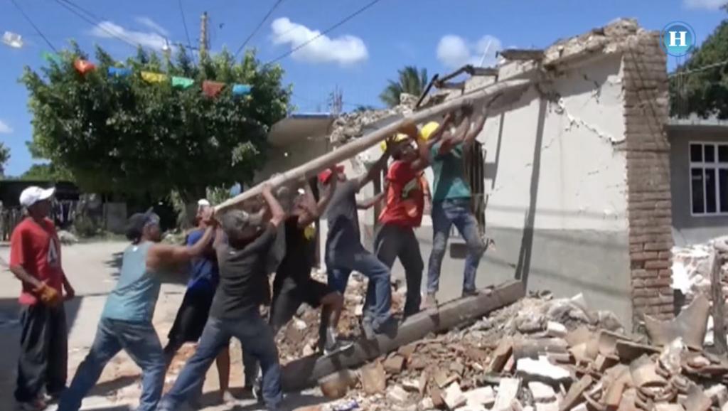 Migrantes apoyan a damnificados del sismo
