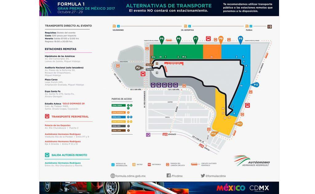 Organizadores del Gran Premio de México y el Gobierno de la CDMX dan a conocer el plan de movilidad para trasladarse al Autódromo Hnos. Rodríguez.