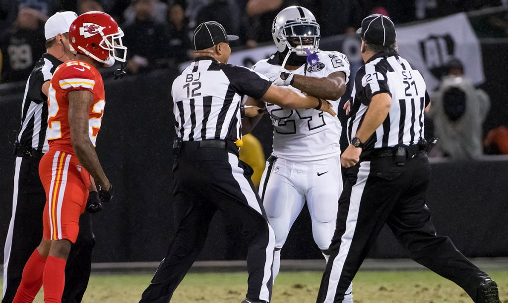 La apelación de Lynch, corredor de los Raiders, fue rechazada y la suspensión de un partido por empujar a un árbitro tendrá que cumplirla ante Buffalo.