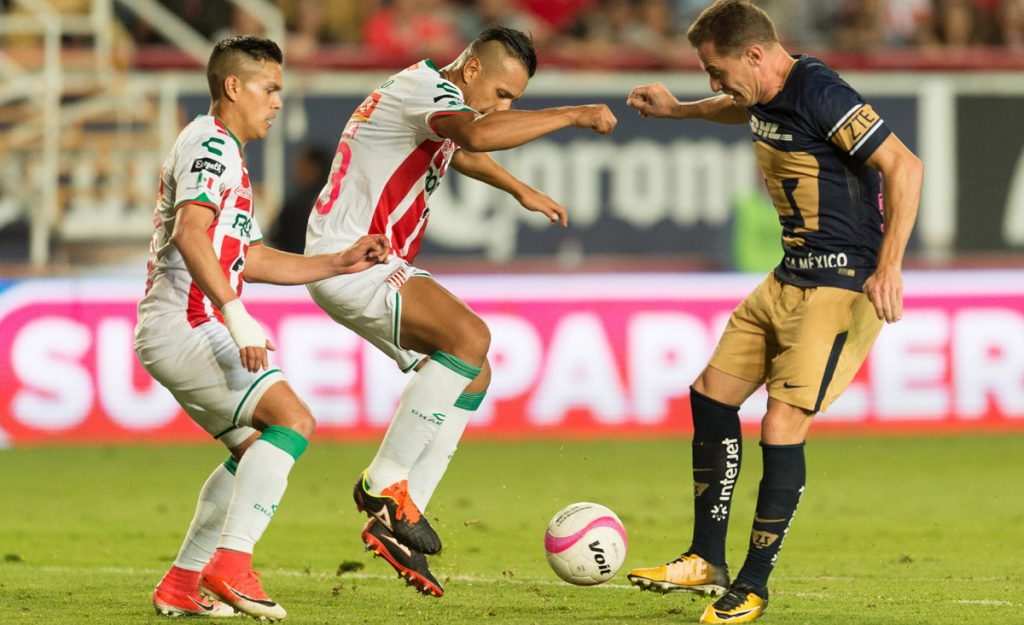 Los Hidrorrayos del Necaxa y los Pumas de la UNAM no se hicieron daño y dividieron par de roscas dentro de la fecha 13 de la Liga MX