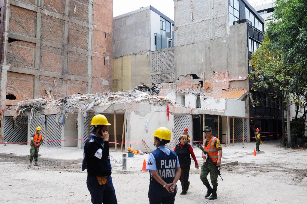 Edificio colapsado en las calles Amsterdam y Laredo en la colonia Condesa. CUARTOSCURO.