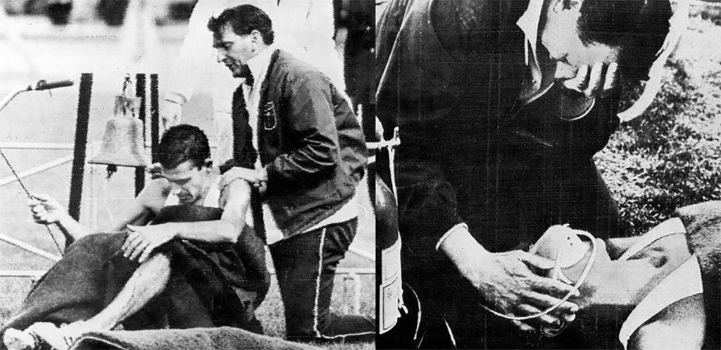 La primera impresión de México 68 fue un negativo impacto: con atletas desvanecidos e inconscientes en el tartán, así fue la primera jornada de competencias, que provocó un emotivo capítulo.