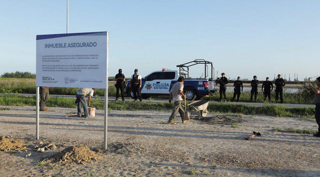 PGJE y Fiscalía Anticorrupción aseguraron 1,600 hectáreas ubicadas en Altamira apropiadas por el exgobernador Eugenio Hernández Flores