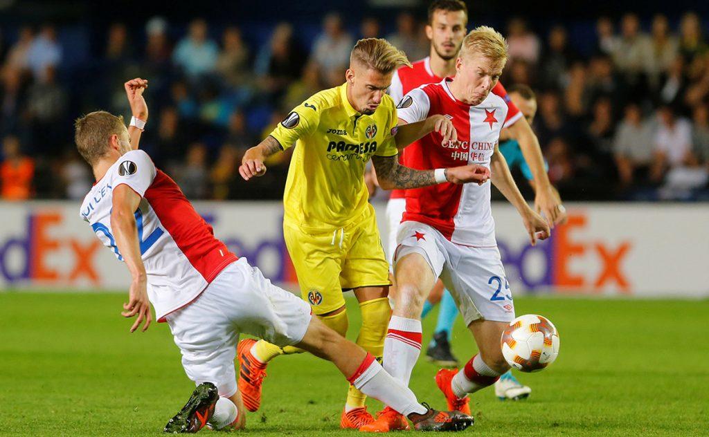 Villarreal no pudo vencer al Slavia de Praga; Athletic rescató el empate en Suecia, y Real Sociedad despedazó 6-0 al Skpje