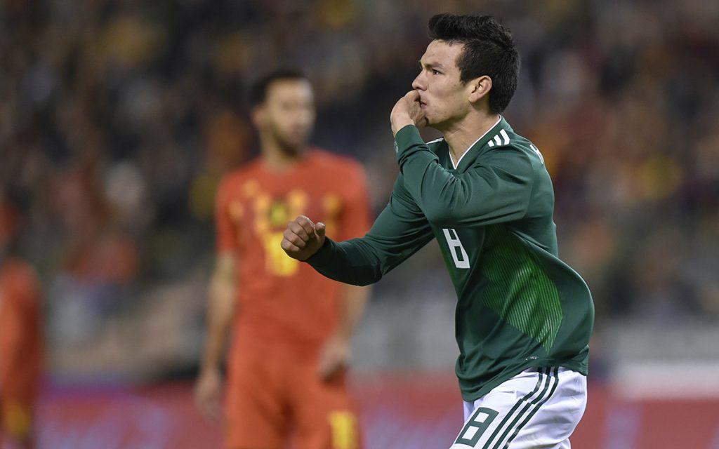 Con dos goles de Hirving Lozano, México rescató el empate 3-3 ante Bélgica, en partido amistoso rumbo a Rusia 2018