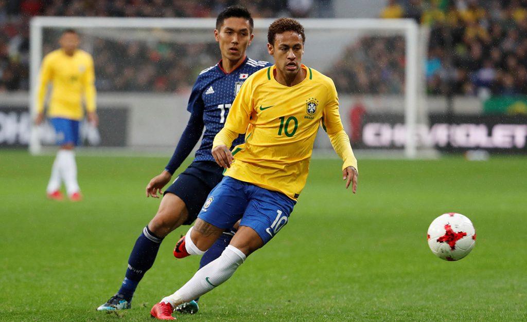 Liderados por Neymar, que acertó y falló penales, Brasil venció tranquilamente 3-1 a Japón, en partidos rumbo a Rusia 2018