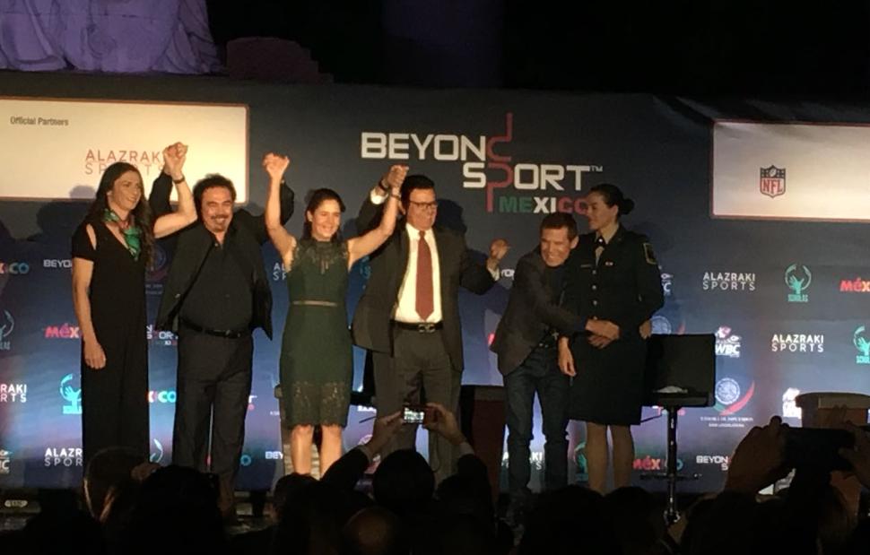 Ana Guevara, Hugo Sánchez, Lorena Ochoa, Fernando Valenzuela, JC Chávez y Ma. Rosario Espinoza. Foto Katya López.