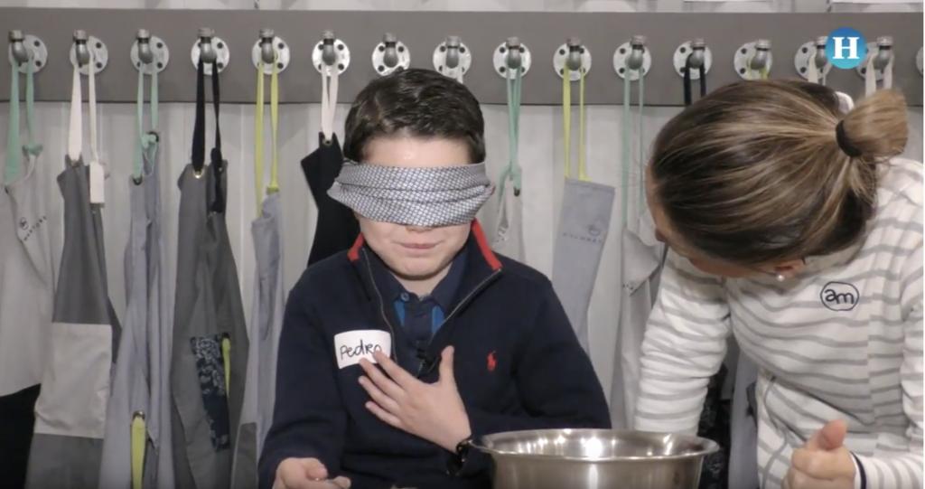 Experimento sensorial con niños