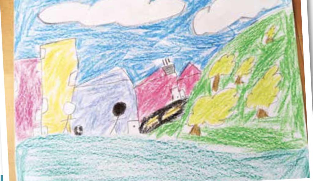 FOTOS Niños dibujan el país que quieren