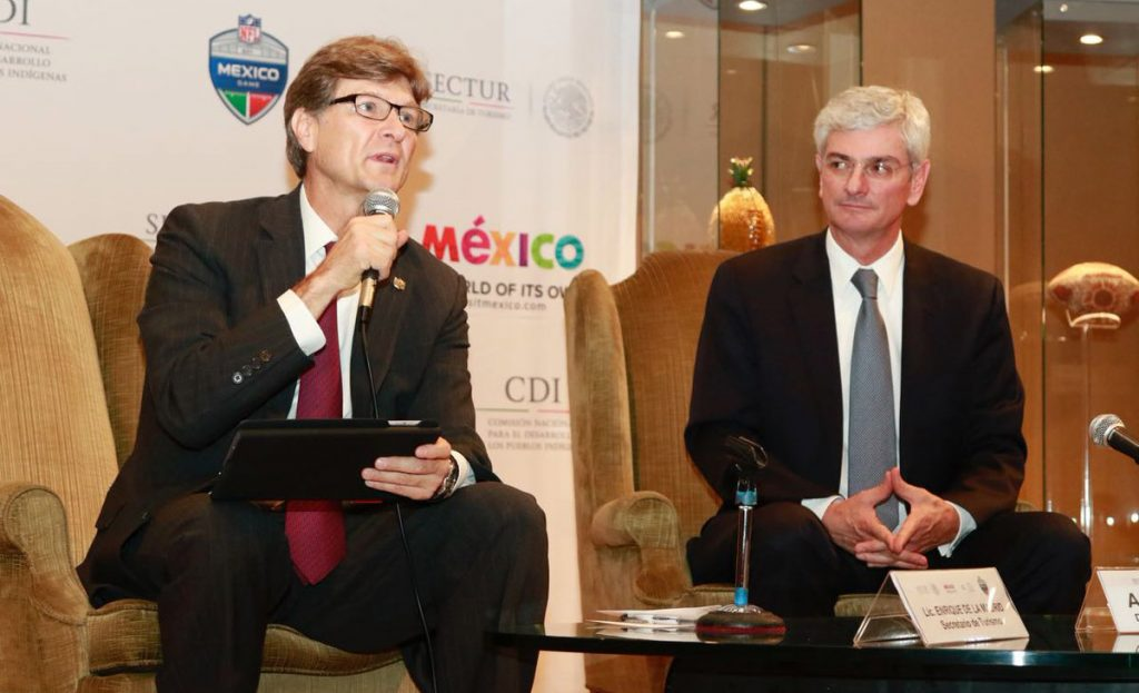 Para Enrique de la Madrid, Secretario de Turismo, el partido de la NFL de este domingo en el Azteca es similar al gran juego por el turismo que genera