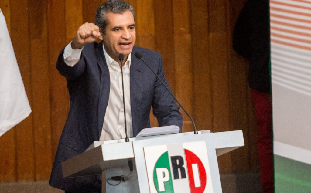 Enrique Ochoa Reza, presidente del PRI, asegura que la gente no vota por partidos divididos ni por Frentes que se desmoronan a pedazos