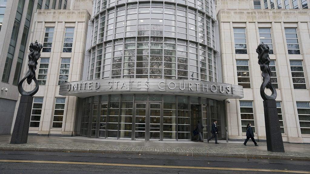 FOTO AFP. En la Corte de Brooklyn, Nueva York se realizan los juicios