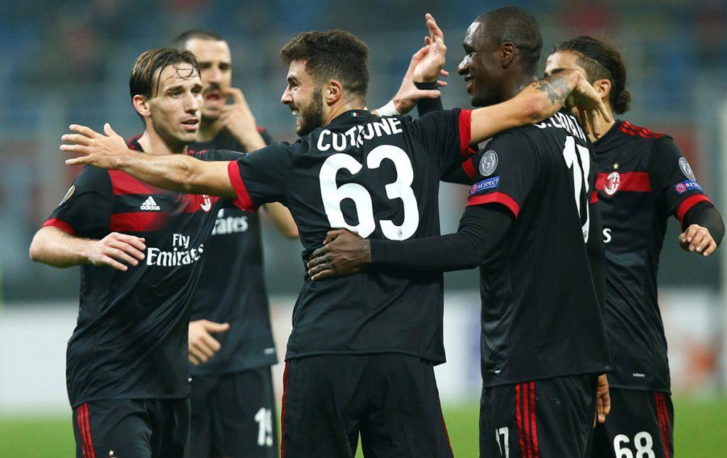 El Milan goleó 5-1 al Viena; Lyon hizo lo propio 4-0 con Apollon; Villarreal ganó de visita 3-2 al Astana y Real Sociedad venció 0-1 al Rosenborg