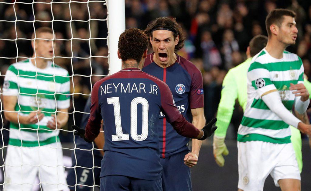 Con dobletes de Neymar y Cavani, el PSG goleó 7-1 al Celtic; Barcelona y Juventus no se hacen daño, y el Atlético gana y mantiene esperanzas