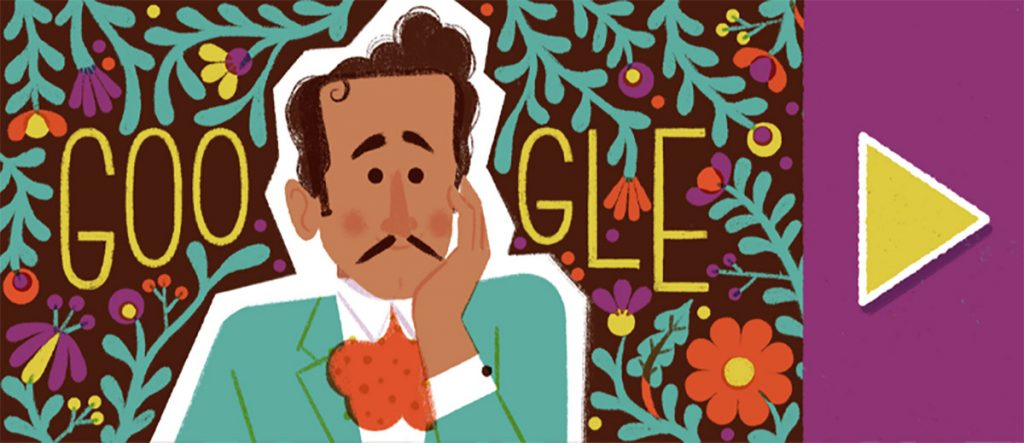 Con 6 imágenes de todas las facetas del ídolo de México, Pedro Infante, el tradicional Doodle está dedicado a conmemorar el centenario del cantante y actor