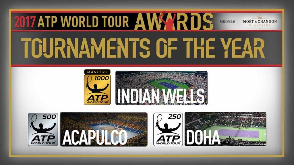 El Abierto Mexicano de Tenis de Acapulco fue galardonado como el Torneo del Año 2017 en la categoría ATP 500