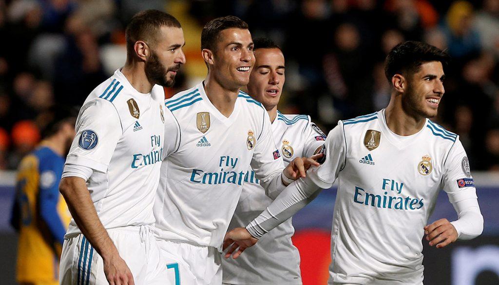Con dobletes de CR7 y Benzema, Real Madrid goleó 6-0 al APOEL; Sevilla tuvo regreso espectacular ante Liverpool; City y Nápoles ganan