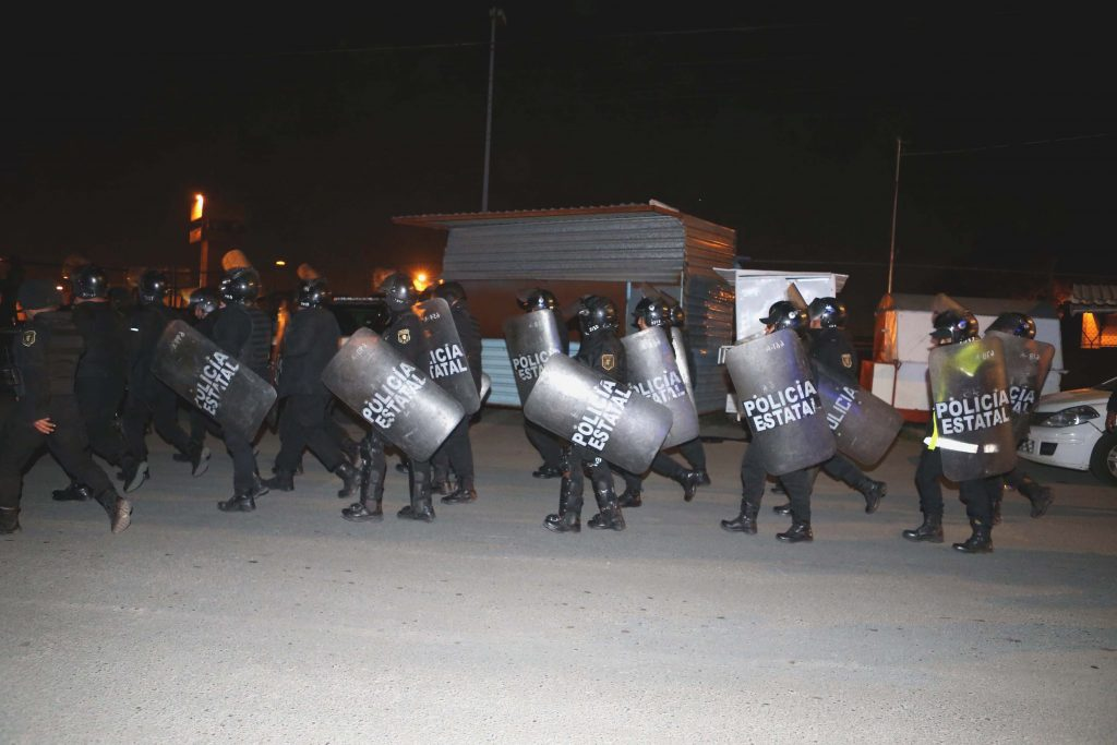 Movilización en el penal Neza-Bordo. Archivo. CUARTOSCURO.
