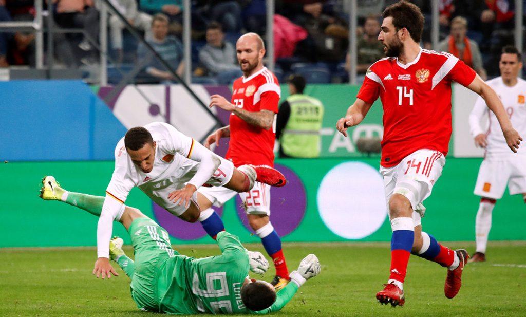 El anfitrión del Mundial rescató el empate ante España; Alemania le saca la igualada a Francia; Brasil e Inglaterra no se hacen daño; Costa Rica y Uruguay pierden