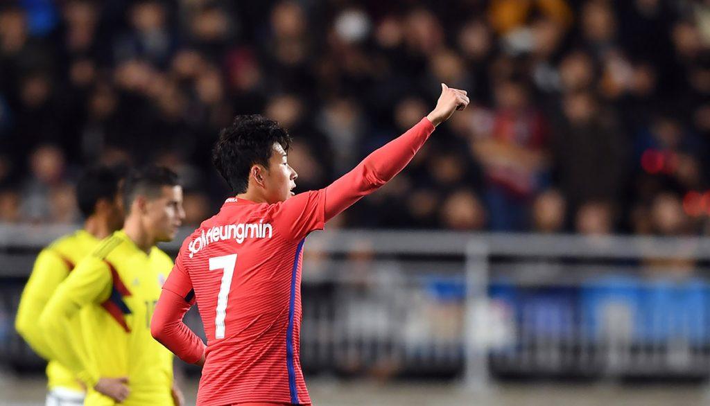 Con doblete de Son Heung-min, Corea del Sur venció 2-1 a una Colombia que sigue en picada rumbo a Rusia 2018