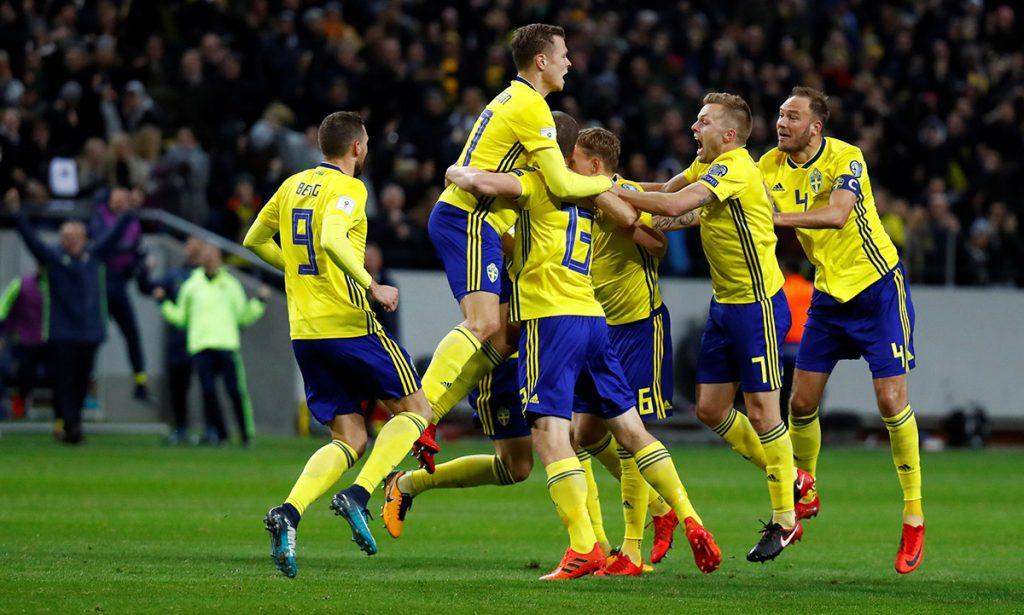 Con solitario gol de Jakob Johansson, Suecia venció 1-0 a Italia en el partido de ida por el repechaje de UEFA rumbo a Rusia 2018