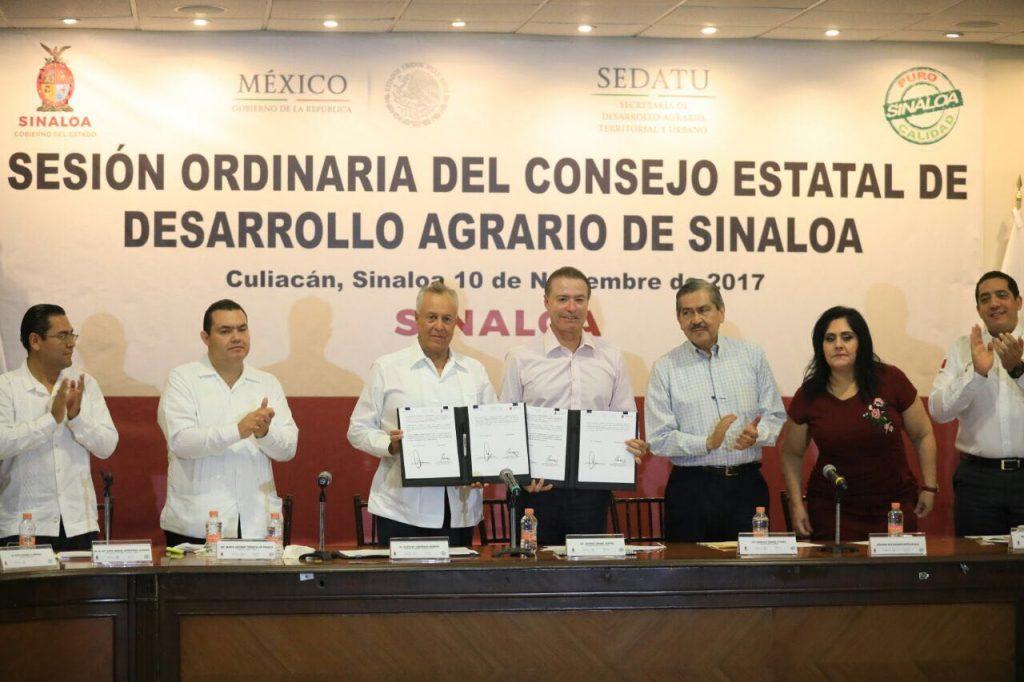 Instalan el Consejo Estatal de Desarrollo Agrario de Sinaloa