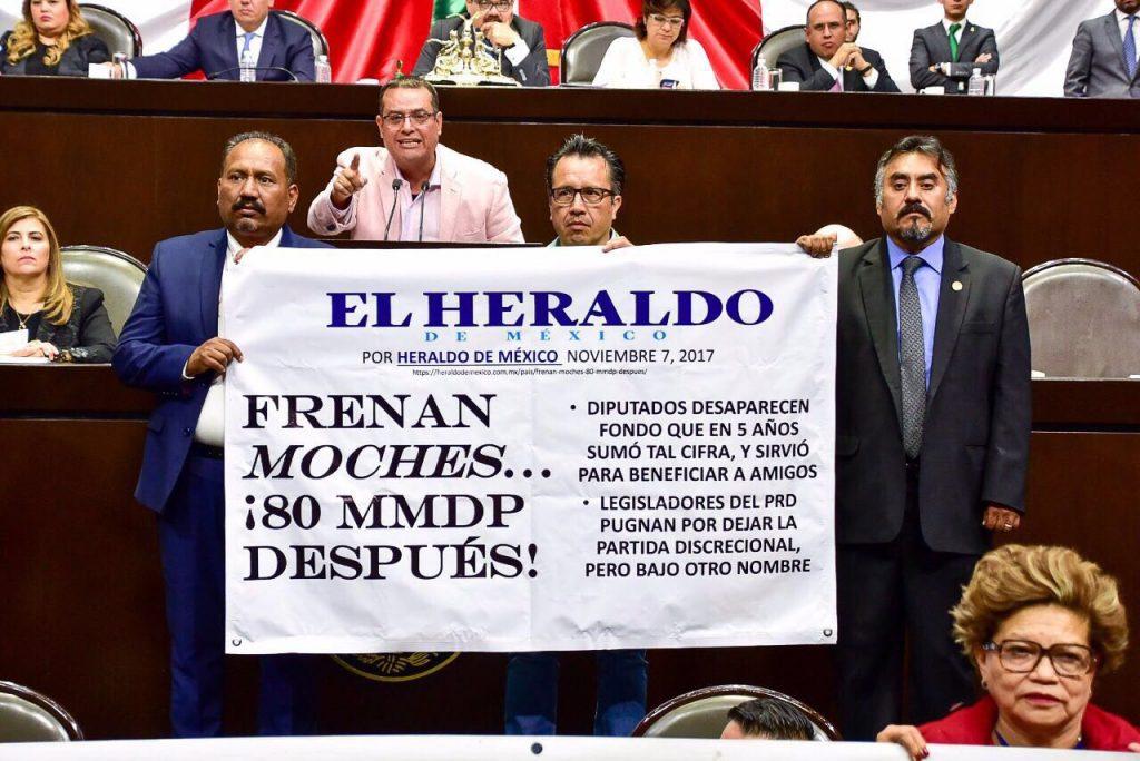 """Portada de El Heraldo de México, utilizada para cuestionar """"moches"""""""