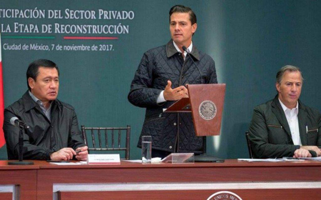 Recursos para reconstrucción, abiertos: Peña Nieto