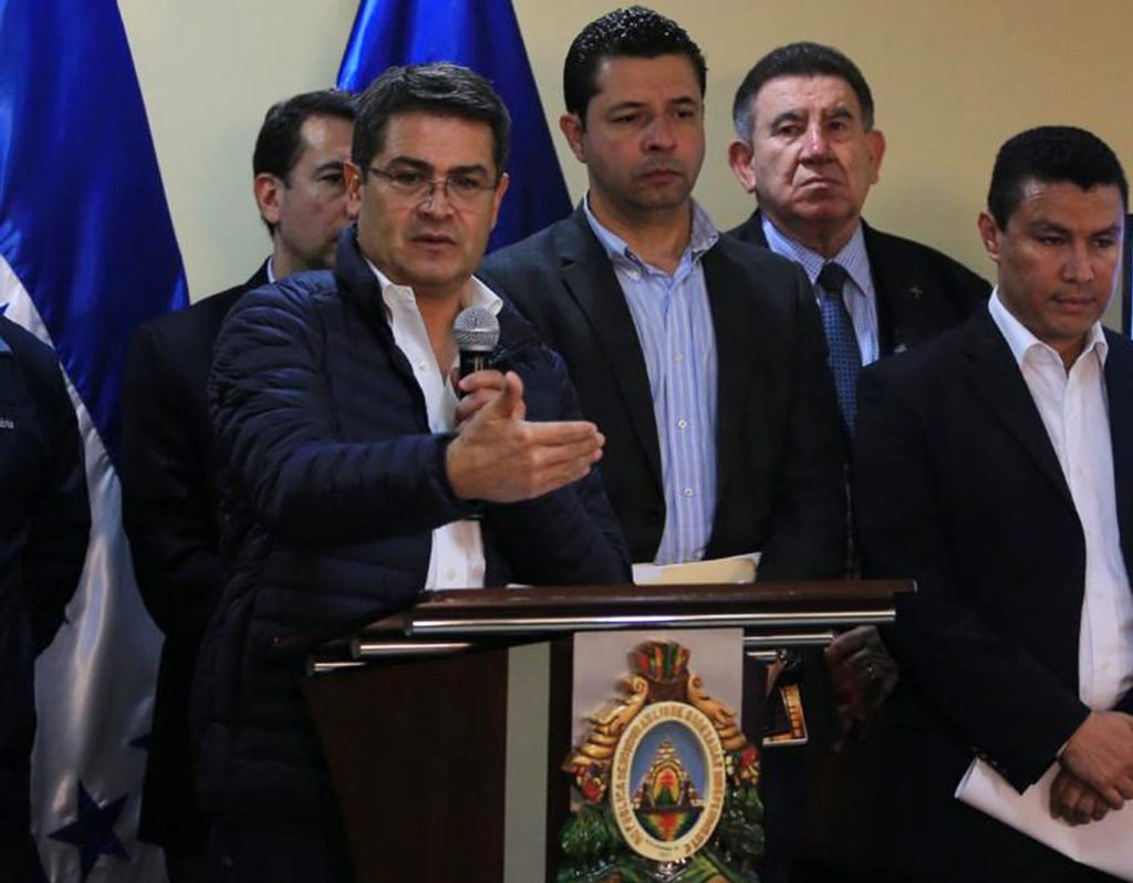 Juan Orlando Hernández. AFP.