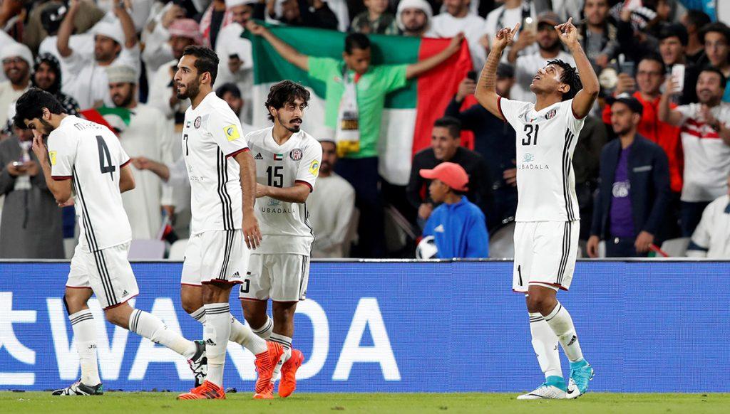 Con solitario gol del brasileño Romarinho, Al Jazira venció 1-0 al Aukland City y se clasificó a cuartos de final donde enfrentará al Urawa Red Diamonds de Japón