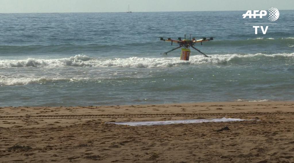 Drones para alertar de tiburones en la playa