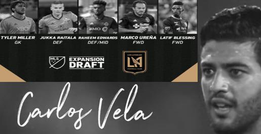 Los Angeles FC de Carlos Vela, suma cinco jugadores al equipo de la MLS