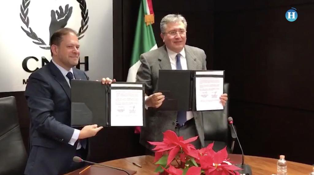 La CNDH y El Heraldo de México firman convenio