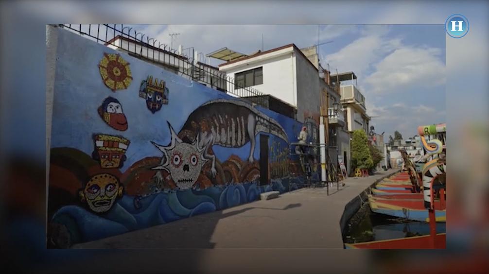 Llevan arte a Xochimilco