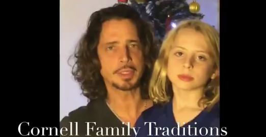 Viuda de Chris Cornell comparte nostálgico video navideño con los fans