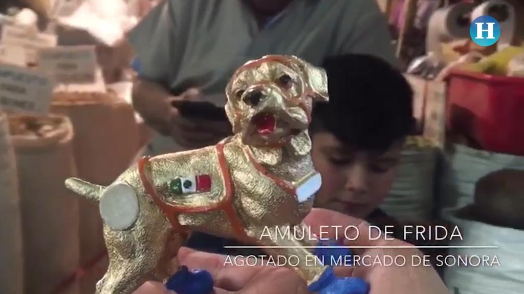 Amuleto de la perra Frida se agota en el Mercado de Sonora