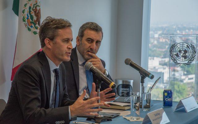 David Kaye, Relator Especial sobre libertad de expresión para las Naciones Unidas, y Edison Lanza, Relator Especial sobre libertad de expresión para la Comisión Interamericana de Derechos Humanos. FOTO CUARTOSCURO