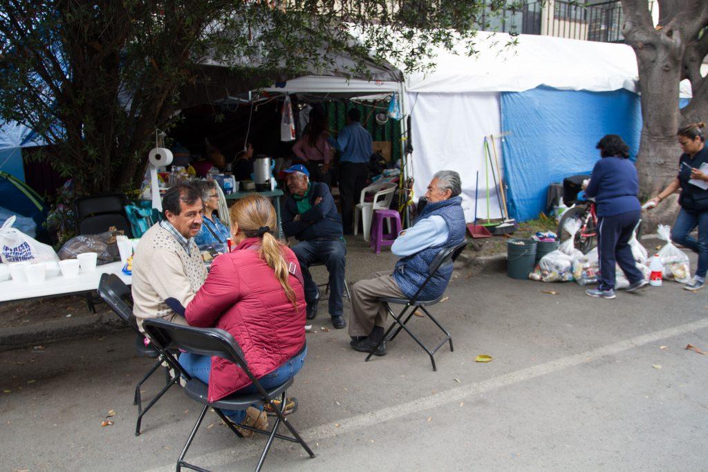 Campamento en Concepción Beistegui. Archivo. CUARTOSCURO.