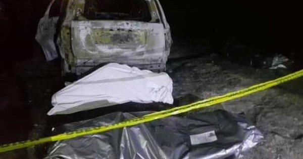 Seis personas calcinadas dentro de camioneta en Uruapan