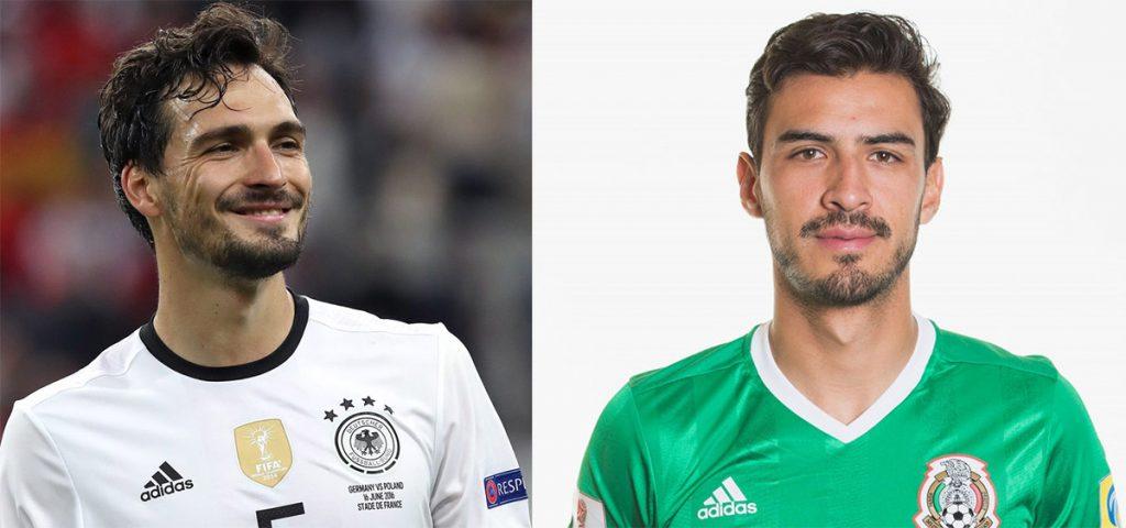 """Tras conocer que el campeón del mundo Alemania enfrentará a México en el Mundial, el defensa teutón Mats Hummel envió mensaje a su """"clon"""" Osvaldo Alanís"""