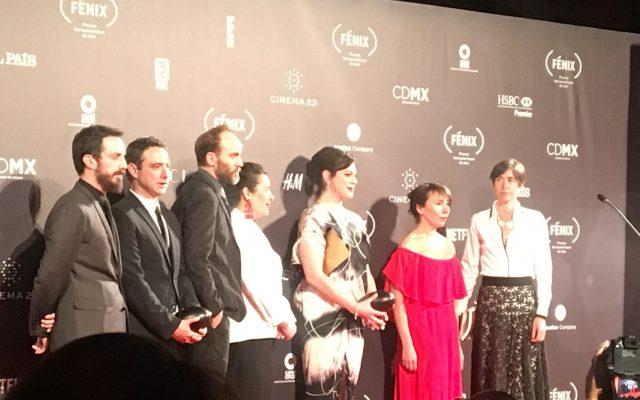 Daniela y el equipo de Una mujer fantástica. Foto Patricia Villanueva.