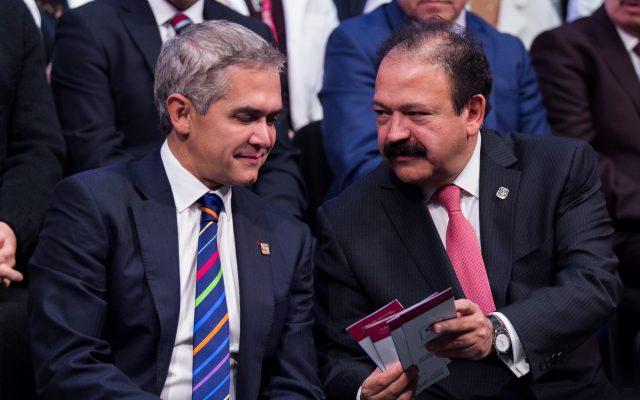 Miguel Ángel Mancera y Amando Ahued. CUARTOSCURO.