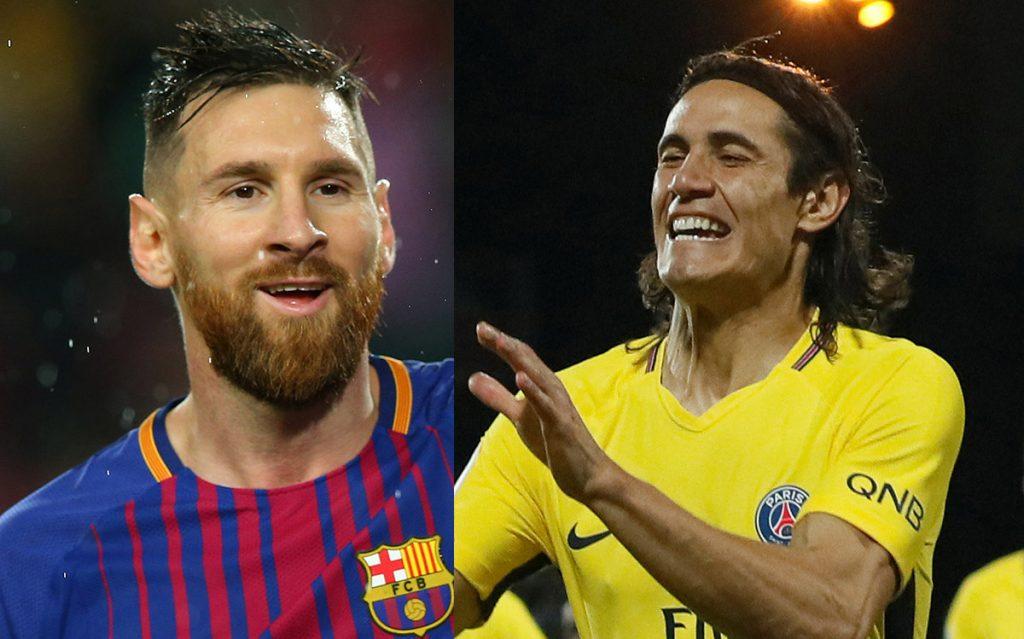 El argentino Lionel Messi y el uruguayo Edinson Cavani cierran el 2017 como máximos goleadores con Barcelona y PSG, respectivamente