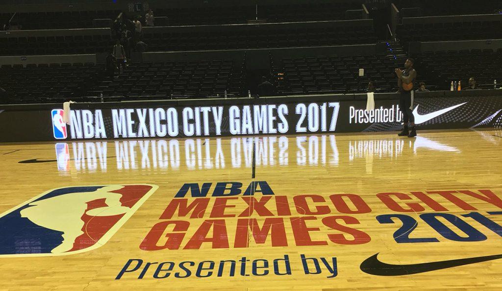 Los Nets de Brooklin realizaron su primera práctica en la Arena Ciudad de México, en donde este jueves enfrentarán al Thunder de Oklahoma